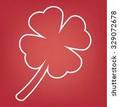 leaf clover line icon. saint...