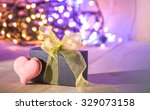 gift box  and hearts shape... | Shutterstock . vector #329073158