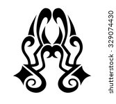 tattoo tribal vector design... | Shutterstock .eps vector #329074430