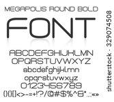 trendy modern elegant bold font ... | Shutterstock .eps vector #329074508
