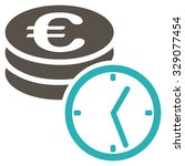 euro coins and time vector icon.... | Shutterstock .eps vector #329077454