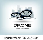 drone quadrocopter logo template | Shutterstock .eps vector #329078684