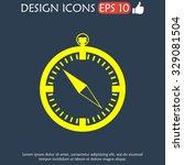 compass icon. flat design style