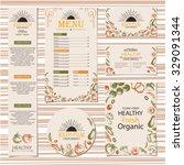 organic vegetable farm set... | Shutterstock .eps vector #329091344