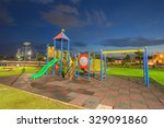 palyground in the public park... | Shutterstock . vector #329091860