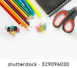 stationary on a white background   Shutterstock . vector #329096030
