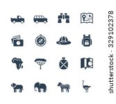 safari vector icon set