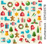 seamless winter pattern with... | Shutterstock .eps vector #329103578