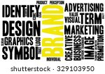 brand word cloud on a white...   Shutterstock .eps vector #329103950