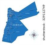 jordan map | Shutterstock .eps vector #329112749