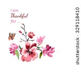 pattern magnolia flowers with... | Shutterstock . vector #329118410