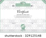 white certificate with light... | Shutterstock .eps vector #329125148