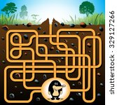 education maze or labyrinth... | Shutterstock .eps vector #329127266