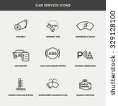 vector graphic icon set of car... | Shutterstock .eps vector #329128100