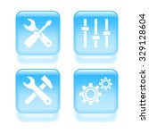 glassy settings icons. vector...