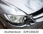 Close Up Car Crash Damage...