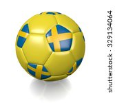 3d football soccer ball with... | Shutterstock . vector #329134064
