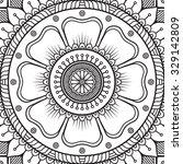 mandala. coloring page. vintage ... | Shutterstock .eps vector #329142809