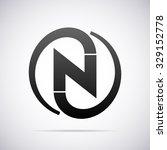 logo for letter n   Shutterstock .eps vector #329152778