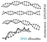 dna symbols. set of science... | Shutterstock .eps vector #329155910
