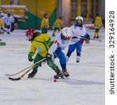russia  arkhangelsk   december... | Shutterstock . vector #329164928