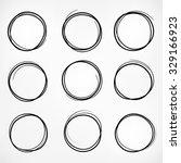 grunge round shape set of...   Shutterstock .eps vector #329166923