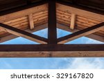 wooden beam ceiling with... | Shutterstock . vector #329167820