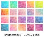 set of vector abstract... | Shutterstock .eps vector #329171456