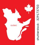 vector canadian province map  ... | Shutterstock .eps vector #329173703