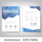 abstract modern cover  report   ... | Shutterstock .eps vector #329173856