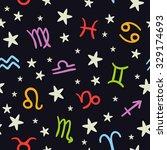 vector doodle seamless pattern... | Shutterstock .eps vector #329174693
