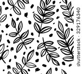 seamless pattern with a plant.... | Shutterstock .eps vector #329176340