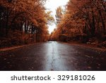 Autumn Road Landscape