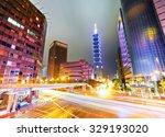 night scene of taipei city ...   Shutterstock . vector #329193020