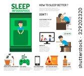 sleep infographics. how to... | Shutterstock .eps vector #329202320