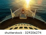 cruise ship ocean crossing.... | Shutterstock . vector #329206274