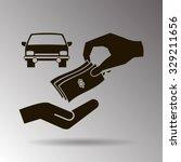 money and car vector icon | Shutterstock .eps vector #329211656