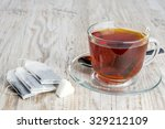 tea bags and transparent cup... | Shutterstock . vector #329212109