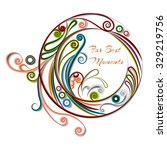 quilling curly paper greeting... | Shutterstock .eps vector #329219756