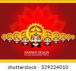 happy vijay dashmi background... | Shutterstock .eps vector #329224010