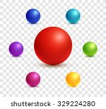 collection of colorful glossy... | Shutterstock .eps vector #329224280