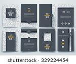 vector design brochures with... | Shutterstock .eps vector #329224454