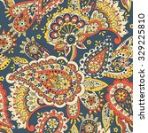 paisley seamless pattern.... | Shutterstock .eps vector #329225810