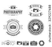 retro vintage insignias set ... | Shutterstock .eps vector #329227688