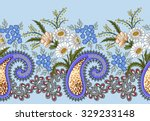 wide seamless border  with... | Shutterstock .eps vector #329233148