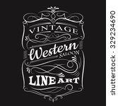 vintage label typography t... | Shutterstock .eps vector #329234690