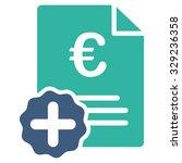 euro medical invoice vector... | Shutterstock .eps vector #329236358