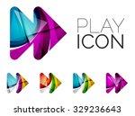 set of abstract next play arrow ...   Shutterstock . vector #329236643