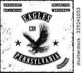 eagles motorbike gang jacket... | Shutterstock .eps vector #329241053