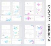 vector business stationary... | Shutterstock .eps vector #329242406